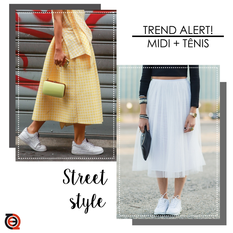 TREND ALERT: Midi + tênis {Streetstyle}