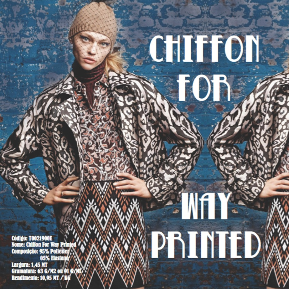 Chiffon For Way Printed
