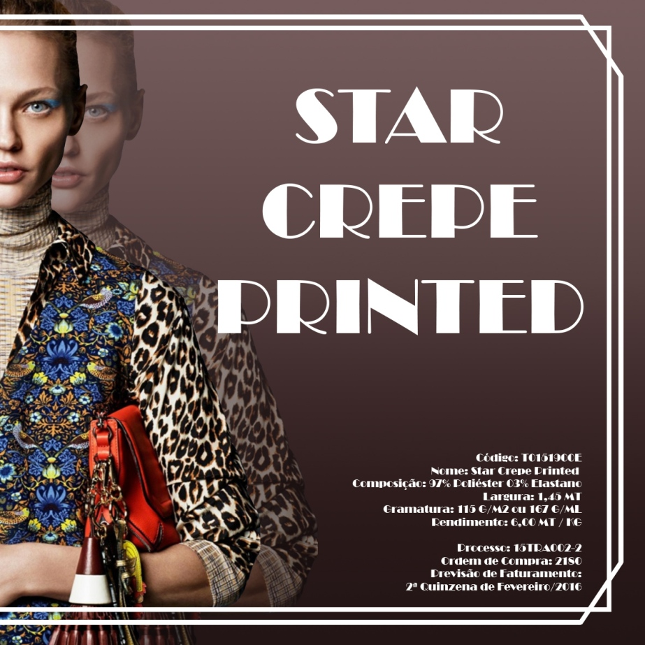 Star Crepe Printed