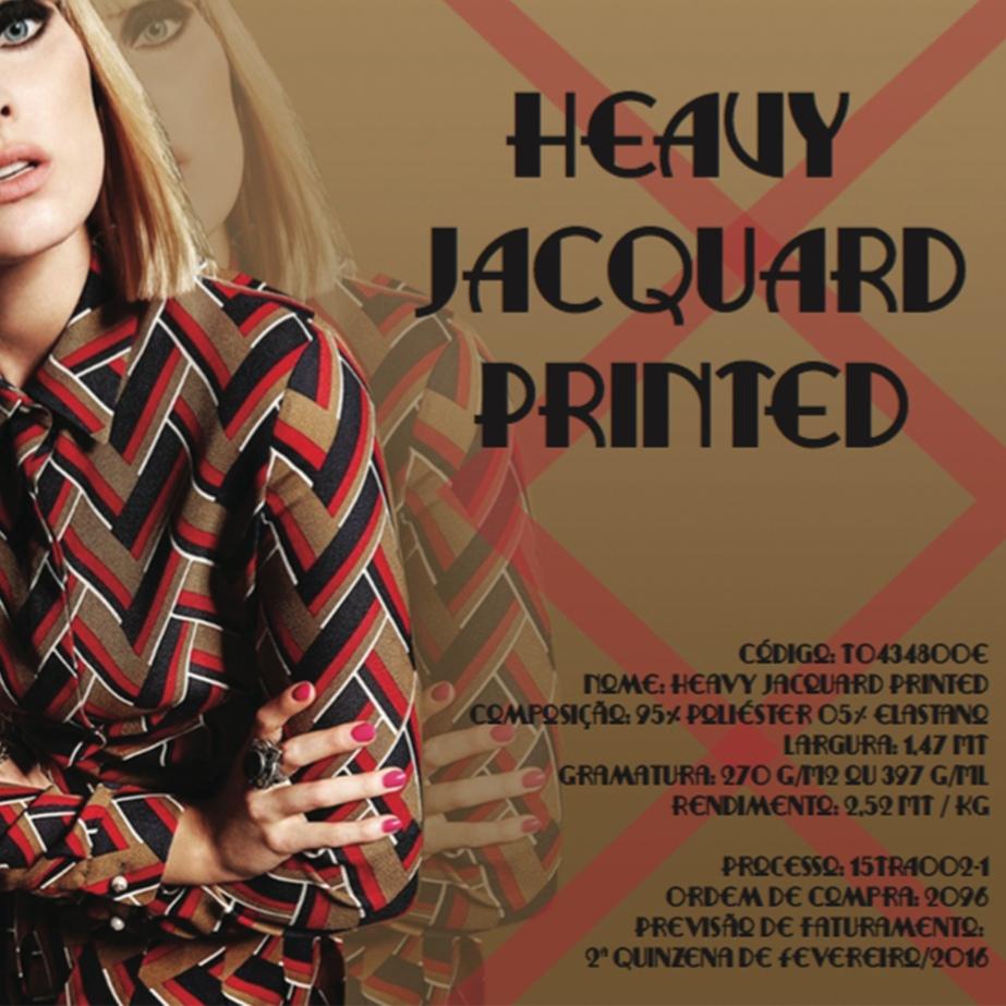 Heavy Jacquard Printed